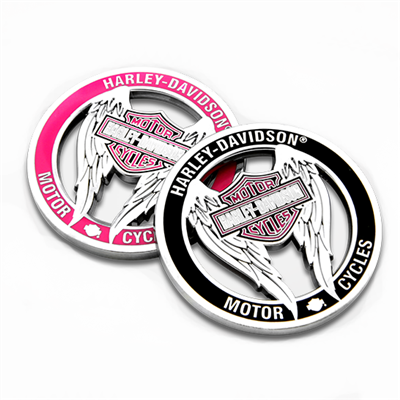 Harley-Davidson Ladies Winged Cutout Challenge Coin