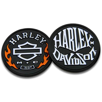 Flames & H-D Skull Challenge Coin 8005078