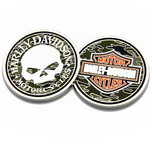 Skull Camo Challenge Coin 8005085