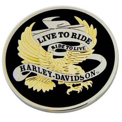 Live To Ride Eagle & Flames Challenge Coin 8007126