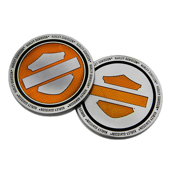 "Harley-Davidson Orange Bar & Shield 1.75"" Challenge Coin 8008994"