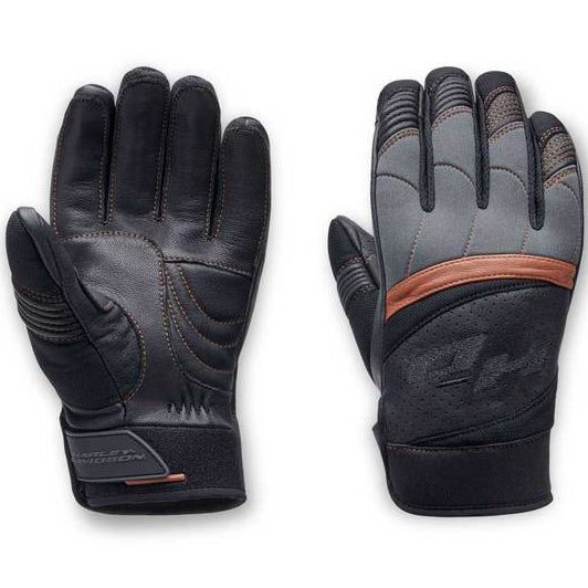 Men's Killian Mixed Media Full-Finger Gloves, Black 98151-20VM