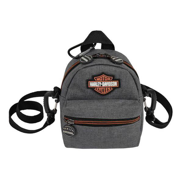 Harley-Davidson Bar & Shield Logo Mini-Me Small Heather Gray Backpack 99668/HG