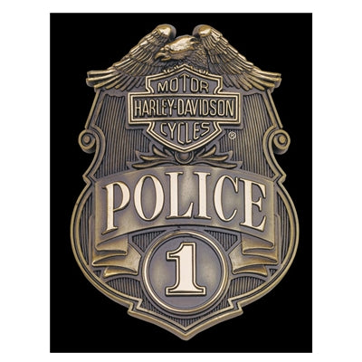 Police Badge Tin Sign