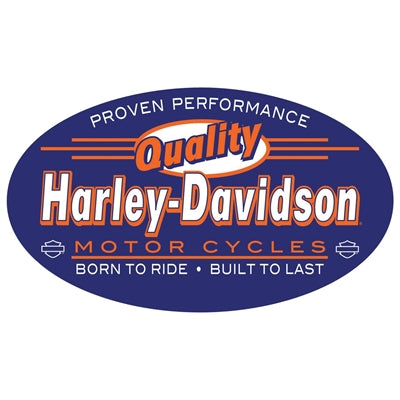 H-D Quality Oval Tin Sign