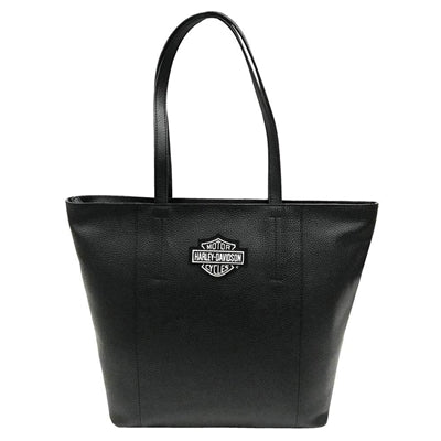 Women's B&S Travel Leather Tote Bag 99516/BLK