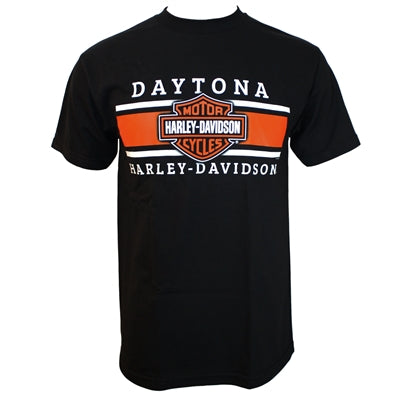 Daytona Custom Iconic Black Men's S/S Dealer Tee