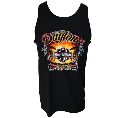 Daytona Men's Palm Black Tank