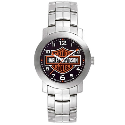 Bar & Shield Stainless Steel Watch
