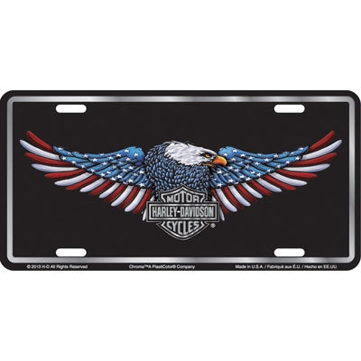 RWB Patriotic Eagle License Plate CG55000