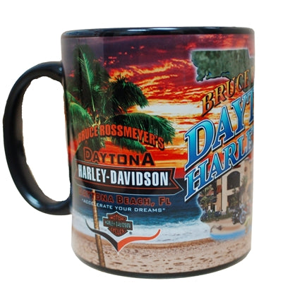 Bruce Rossmeyer's Daytona Harley-Davidson Custom All Over Print Coffee Mug Collage