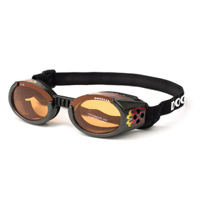 Doggles - Dog Goggles in Black with Flames