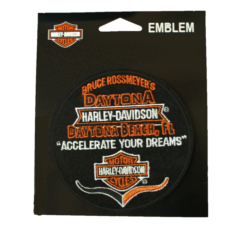 Accelerate Your Dreams Custom Daytona Harley-Davidson Patch EMCUS04