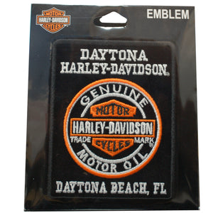Daytona Harley-Davidson Genuine Motor Oil Custom Patch