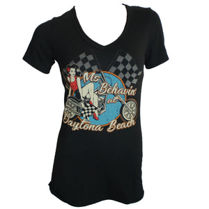 Daytona Pin-Up Destination Daytona Ladies S/S Shirt