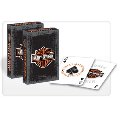 Harley Davidson Playing Cards - Rustic