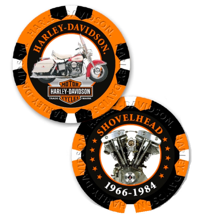 Limited Edition Series 6 ShovelHead Poker Chips Pack Black & Orange 6706
