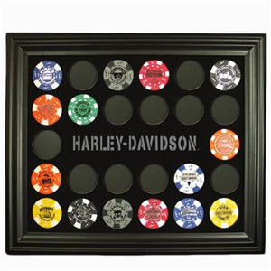 Black Poker Chip Frame