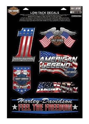 Patriotic Assortment Chrome Window Cling DW88584