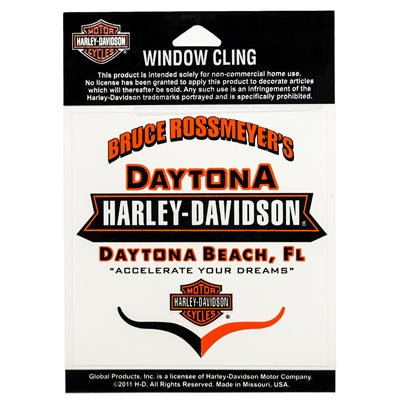 Daytona H-D Window Cling