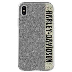 Glitter Harley-Davidson Script Flexible Phone Shell - iPhone X