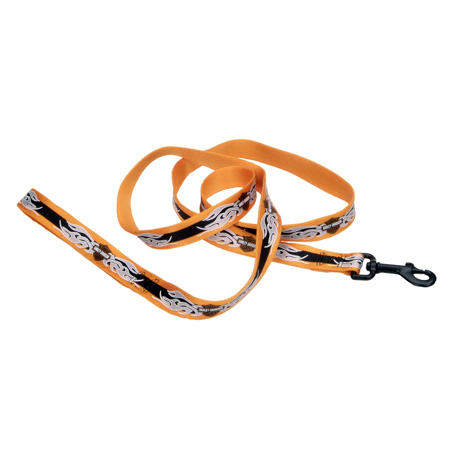 Harley-Davidson Tribal Flames Bar & Shield Reflective 6' Leash OBF06
