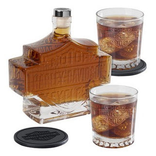 Bar and Shield Decanter Set
