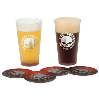 Skull Pint Glass Set HDL-18763