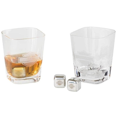Silhouette B&S 12 oz. Rocks Glass Set W/ Ice Cubes HDL-18791