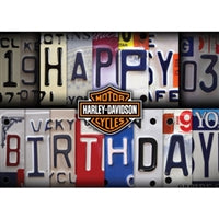 H-D License Plate Birthday Card HDL-20002
