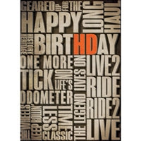 H-D Verbiage Birthday Card HDL-20003