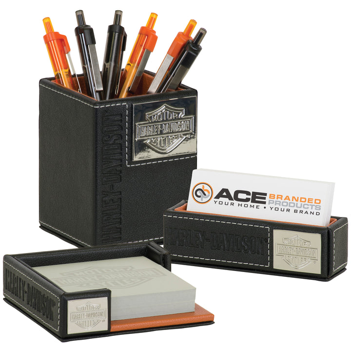 B&S Leatherette Desk Accessory Gift Set HDL-20116