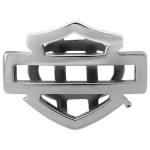Silver Tone Silhouette Bar & Shield Rally Charm