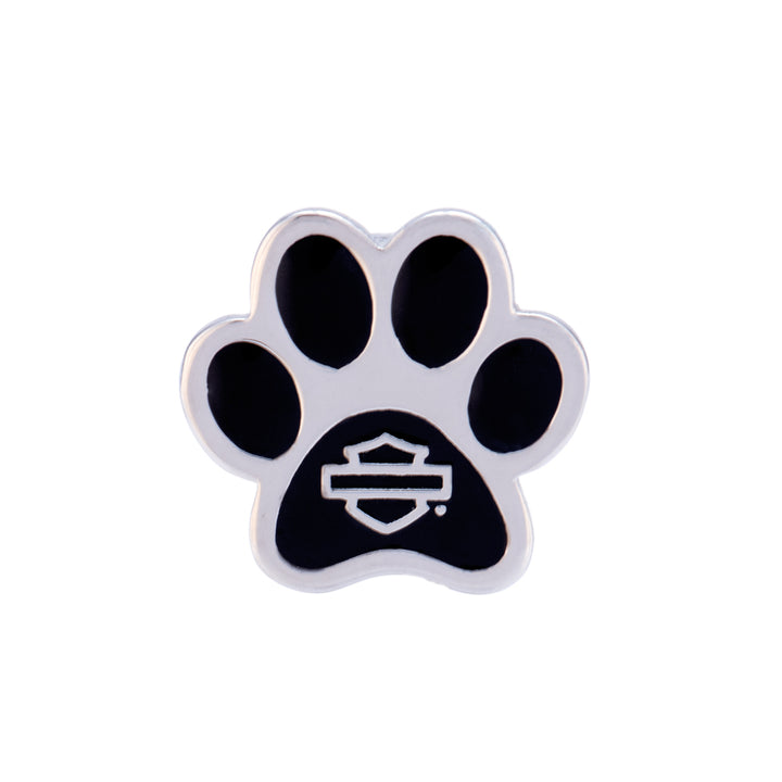Bar & Shield Paw Rally Charm in Silver Tone