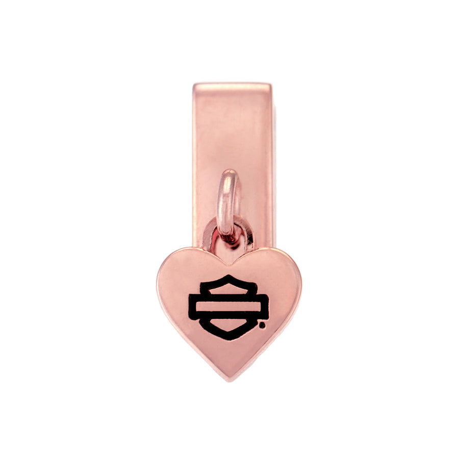 Heart Dangle Rally Charm in Rose Gold Tone