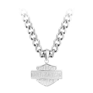 Men's Stainless Steel Bar & Shield Chain Necklace HSN0049