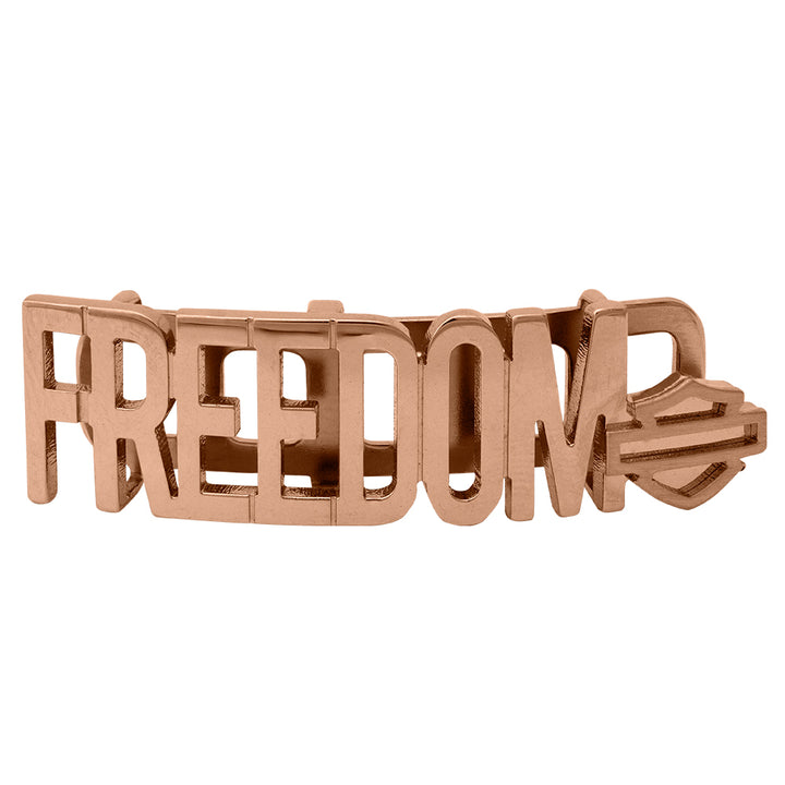 Freedom Bar for Rally Bracelet in Rose Gold Tone