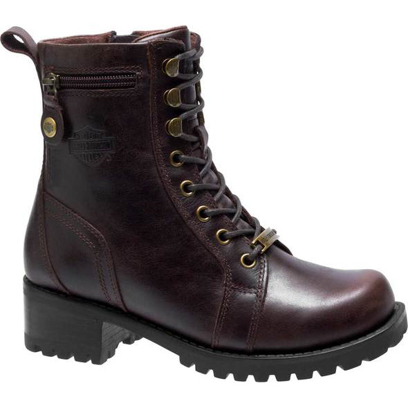 Ladies Harley-Davidson Keeler Boot  in Brown- D84331