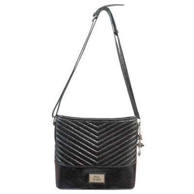 Women's Quilted chevron Bucket Purse