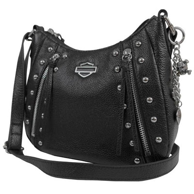 Women's Studded Rider Leather Crossbody Purse RD4927L