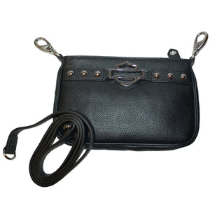 Bar & Shield Black Hip Bag
