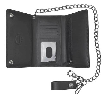Men's Medallion Core Biker Tri-Fold Tall Wallet