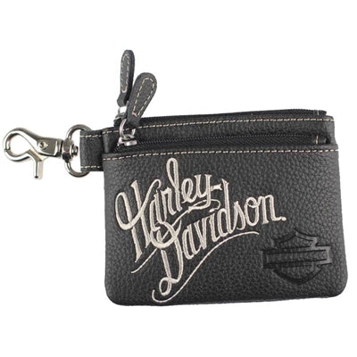 Women's Embroidered H-D Script Coin Pouch ZWL3895