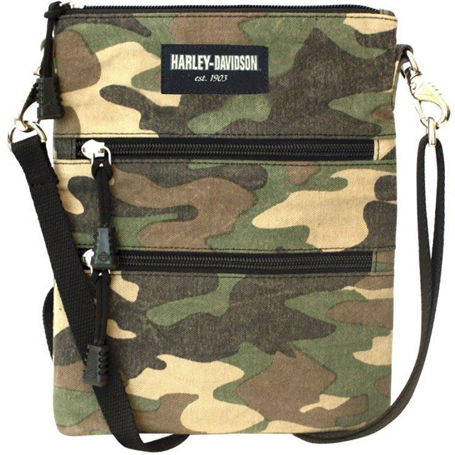 Women's Camo Print Crossbody Cotton Clip Bag LCC4565