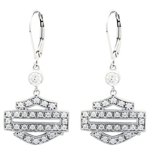 H-D Bling B&S Outline Dangle Earrings