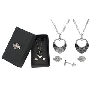 Necklace and Earring Set - Bling Heart