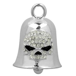 White Crystal Skull Ride Bell