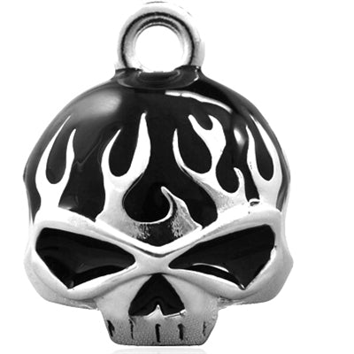 Black Flame Skull Ride Bell