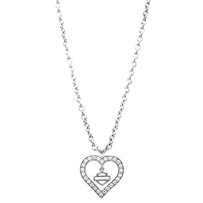 Timeless Heart Bling Necklace