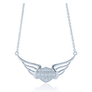 Bling B&S Pierced Wing Necklace